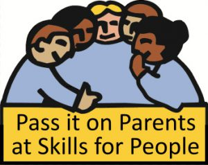Pass it on Parents at Skills for People logo