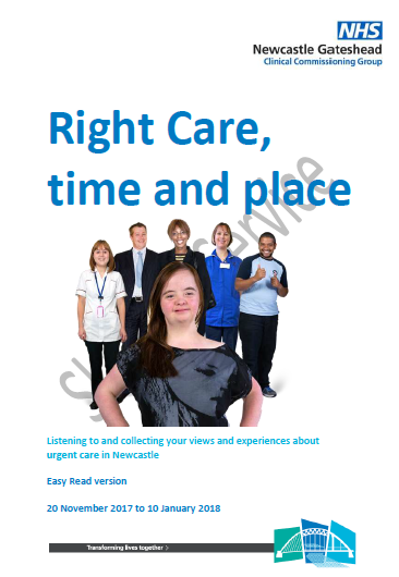 Right Care, Time and Place Easy Read version