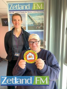Carolyn and Barry on Zetland FM talking about the Safe Places Scheme in Redcar & Cleveland